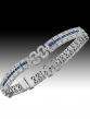 Braclet Diamants - Saphirs / Or Gris